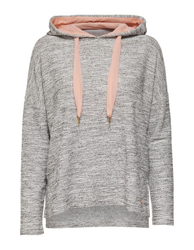 Only Oversized Long-Sleeve Hoodie-GREY-Large