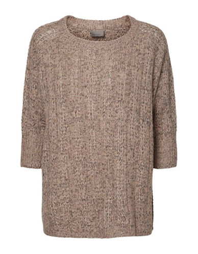Vero Moda Vmamanda Jive Oversized Sweater-PINK-X-Small
