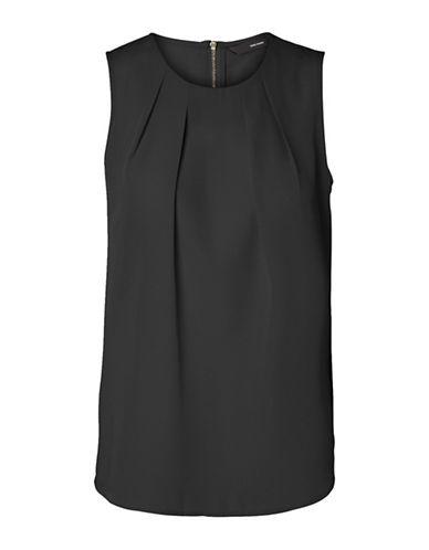 Vero Moda Vanessa Zip Top-BLACK-Small