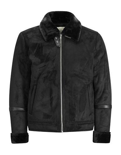 Jack & Jones Faux-Suede Jacket-BLACK-X-Large