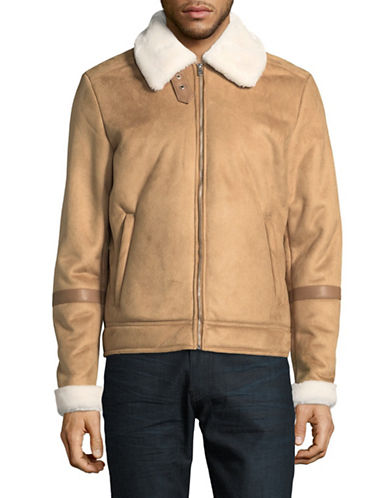 Jack & Jones Faux-Suede Jacket-BEIGE-X-Large