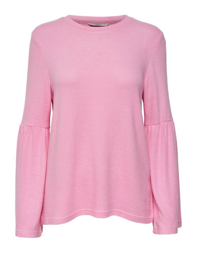 Only New Maye Flare Long-Sleeve Pullover-BEGONIA PINK-Large