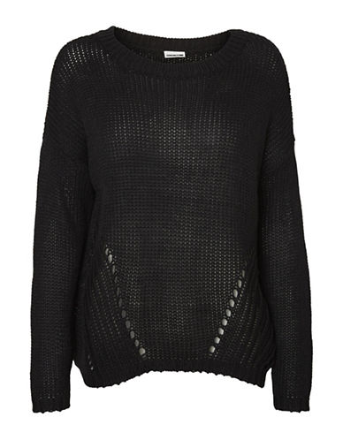 Noisy May Vera May Long-Sleeve Pullover-BLACK-Large