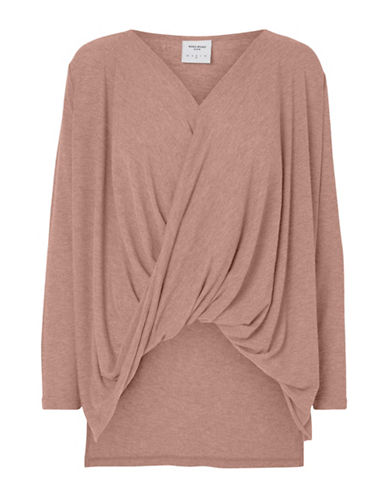 Vero Moda Honiebay Wrap Top-PINK-X-Small