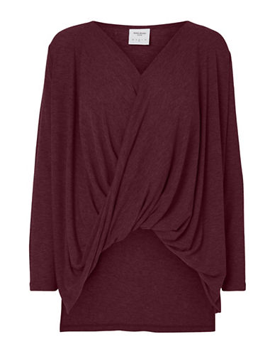 Vero Moda Honiebay Wrap Top-PURPLE-Small