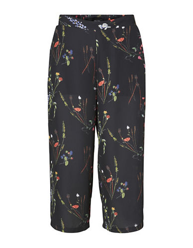 Vero Moda Florence Culotte Pants-BLACK MULTI-X-Small