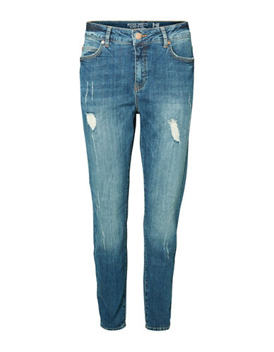 Noisy May Distressed Girlfriend Jeans-BLUE-30