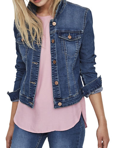 Noisy May Denim Jacket-BLUE-Large