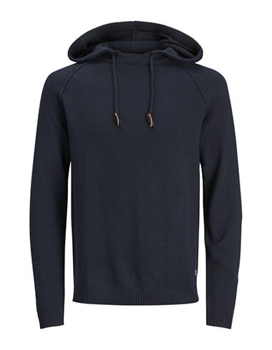 Jack & Jones Long Raglan Sleeve Hoodie-BLACK-X-Large