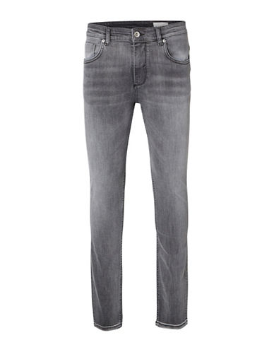 Selected Homme Faded Slim-Fit Jeans-GREY-34X34