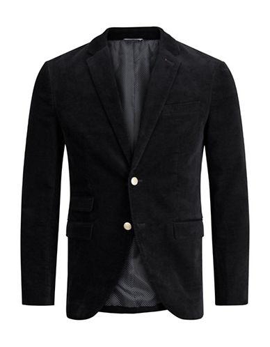 Jack And Jones Premium Classic Button-Front Blazer-DARK GREY-48