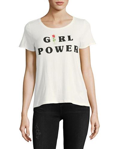 Only Ella Girl Power Cotton Tee-WHITE-X-Small