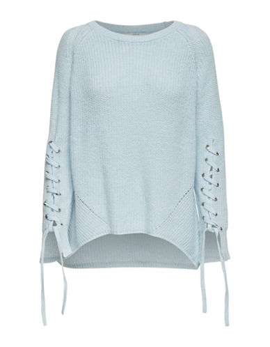 Only Noleta Laced-Sleeve Sweater-BLUE-Medium