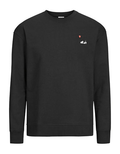 Jack & Jones Snoopy Cotton Sweatshirt-BLACK-Large