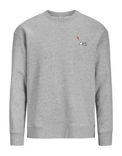 Jack & Jones Snoopy Cotton Sweatshirt-GREY-XX-Large