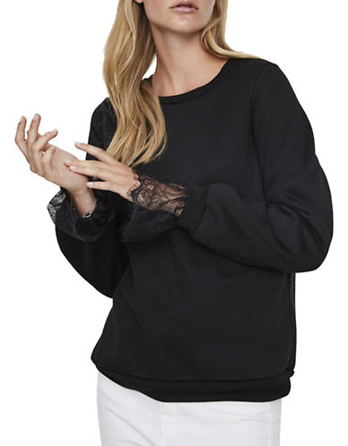 Vero Moda Bessie Sweater-BLACK-Medium