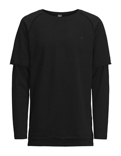 Jack & Jones Long Sleeve Cotton Sweater-BLACK-Small