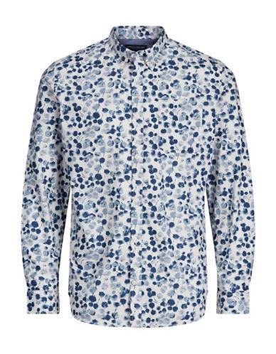 Jack And Jones Premium Printed Cotton Sport Shirt-WHITE-Medium