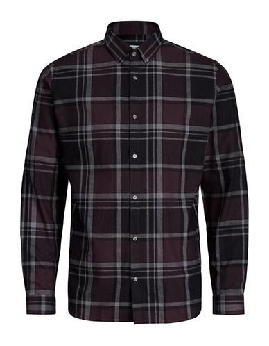 Jack And Jones Premium Graphic Cotton Sport Shirt-RED-Medium