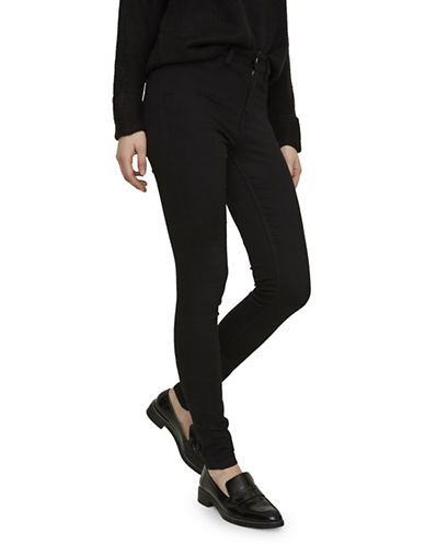 Noisy May Lexi High-Rise Jeans-BLACK-31X32
