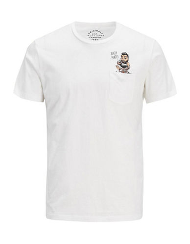 Jack & Jones Ahoy Mate Cotton Tee-WHITE-XX-Large