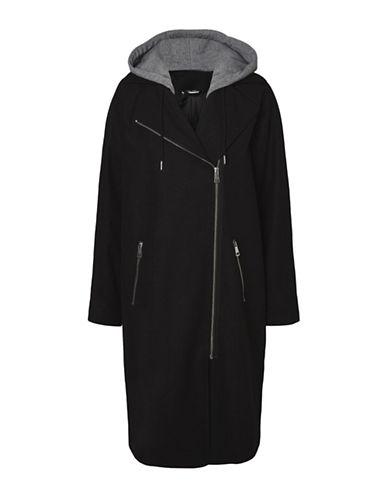 Noisy May Cohiba Coat-BLACK-Medium