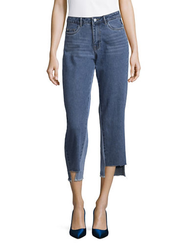 Only Chuck Straight Cropped Jeans-BLUE-28