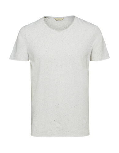 Selected Homme Crew Neck Cotton Tee-WHITE-Small 89694533_WHITE_Small