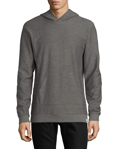Only And Sons Heathered Hoodie-GREY-Large