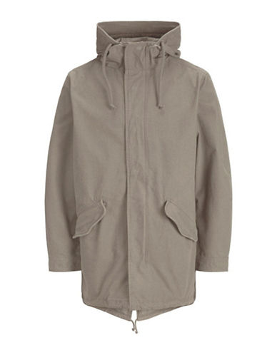 Jack & Jones Light Cotton Parka-GREY-Medium