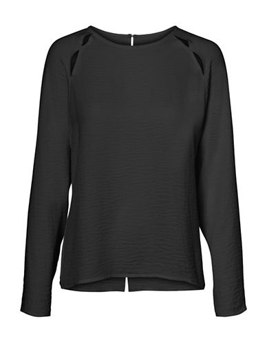 Vero Moda Long-Sleeve Cut-Out Top-BLACK-Small 89606715_BLACK_Small