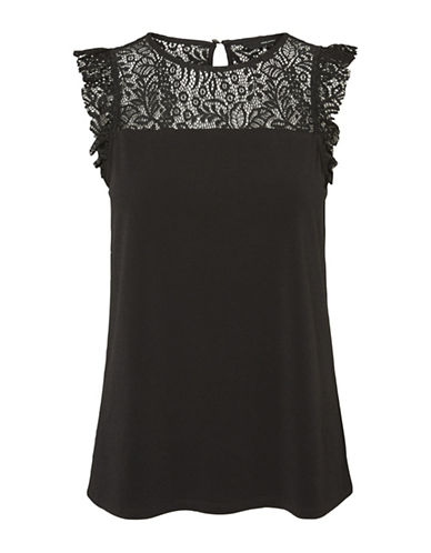 Vero Moda Alberta Lace Top-BLACK-Small