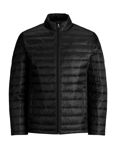 Jack And Jones Premium Quilted Jacket-BLACK-X-Large