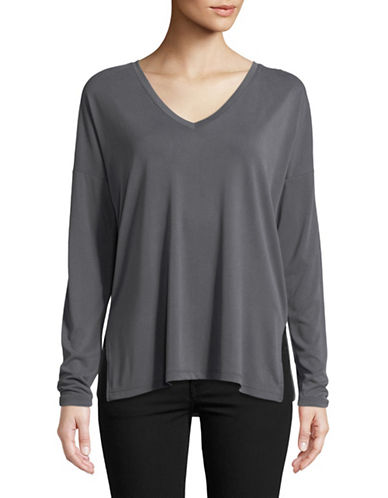 Only Loose Long-Sleeve Tee-GREY-X-Small