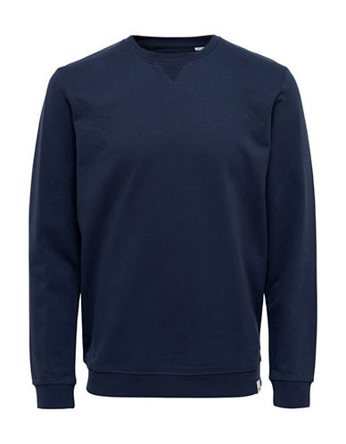 Only And Sons Long-Sleeve Sweatshirt-BLUE-XX-Large