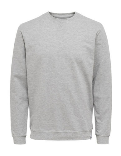 Only And Sons Long-Sleeve Sweatshirt-LIGHT GREY-Medium