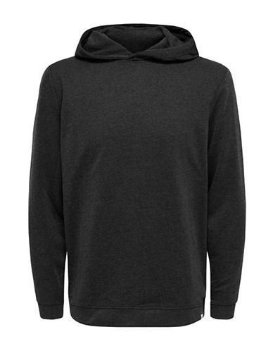 Only And Sons Hooded Sweatshirt-BLACK-Small