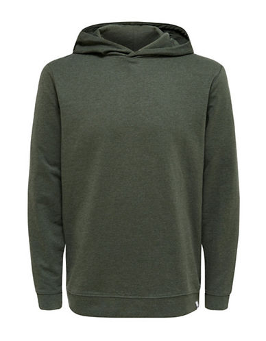 Only And Sons Hooded Sweatshirt-GREEN-X-Large