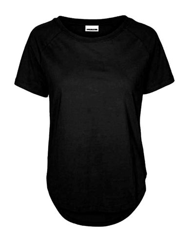 Noisy May Basic Cotton Tee-BLACK-Small