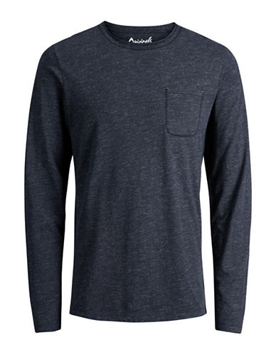 Jack & Jones Dot Long-Sleeve Tee-BLUE-XX-Large