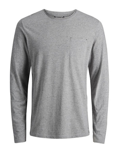 Jack & Jones Dot Long-Sleeve Tee-NATURAL-Medium