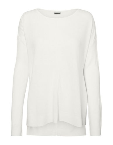 Noisy May Chen Long-Sleeve Pullover-SNOW WHITE-Medium