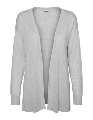 Noisy May Short Knit Cardigan-GREY-Large