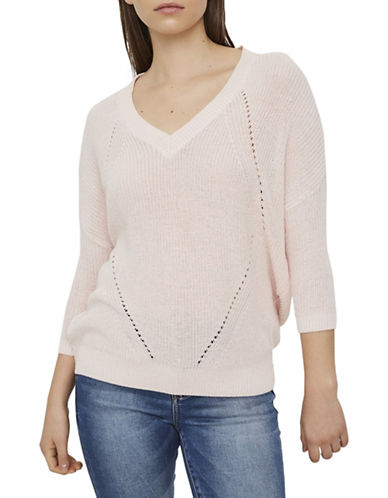Noisy May Sian Quarter-Sleeve Pullover-BARLEY-Large
