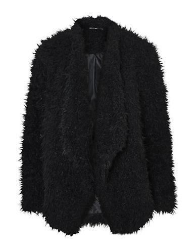 Noisy May Nelly Open Front Jacket-BLACK-Medium