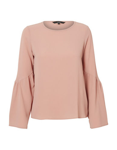 Vero Moda Round Neck Flare-Sleeve Top-PINK-X-Large