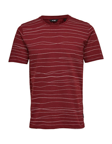 Only And Sons Printed Cotton Tee-BROWN-X-Large