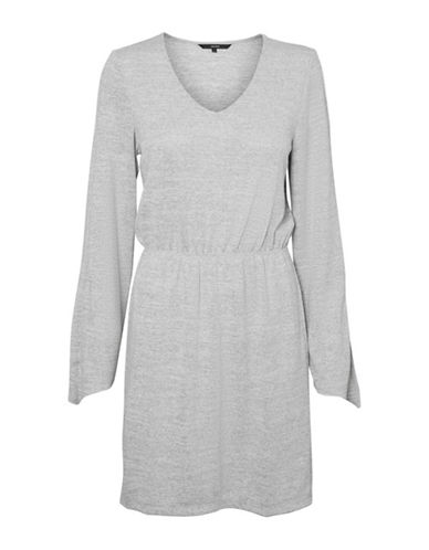 Vero Moda Natural Short Dress-GREY-Medium