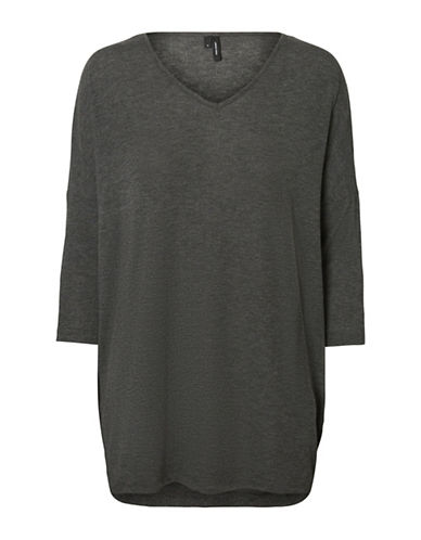 Vero Moda Honey Long Top-GREY-Large