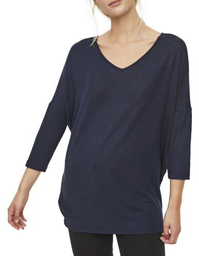 Vero Moda Honey Long Top-NAVY-X-Small